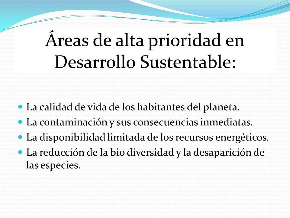 Áreas de alta prioridad en Desarrollo Sustentable: