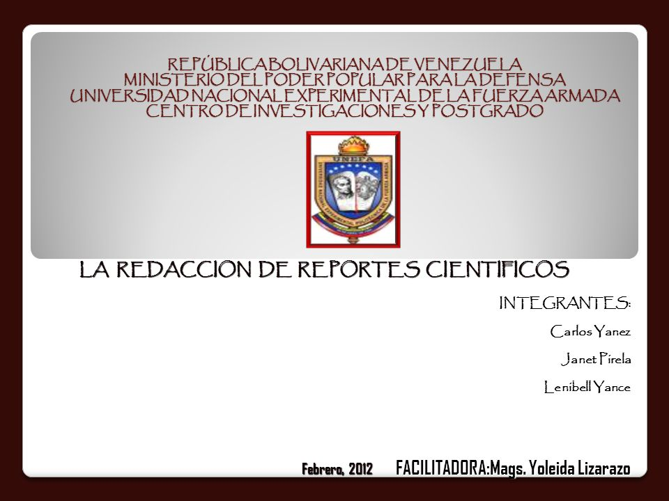 LA REDACCION DE REPORTES CIENTIFICOS
