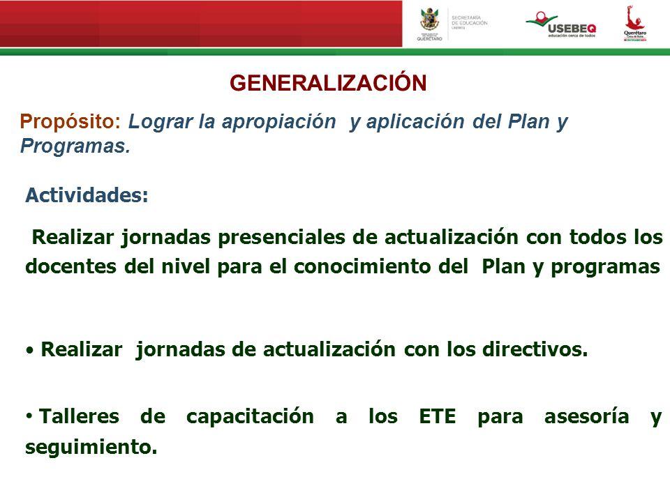 Talleres de capacitación a los ETE para asesoría y seguimiento.
