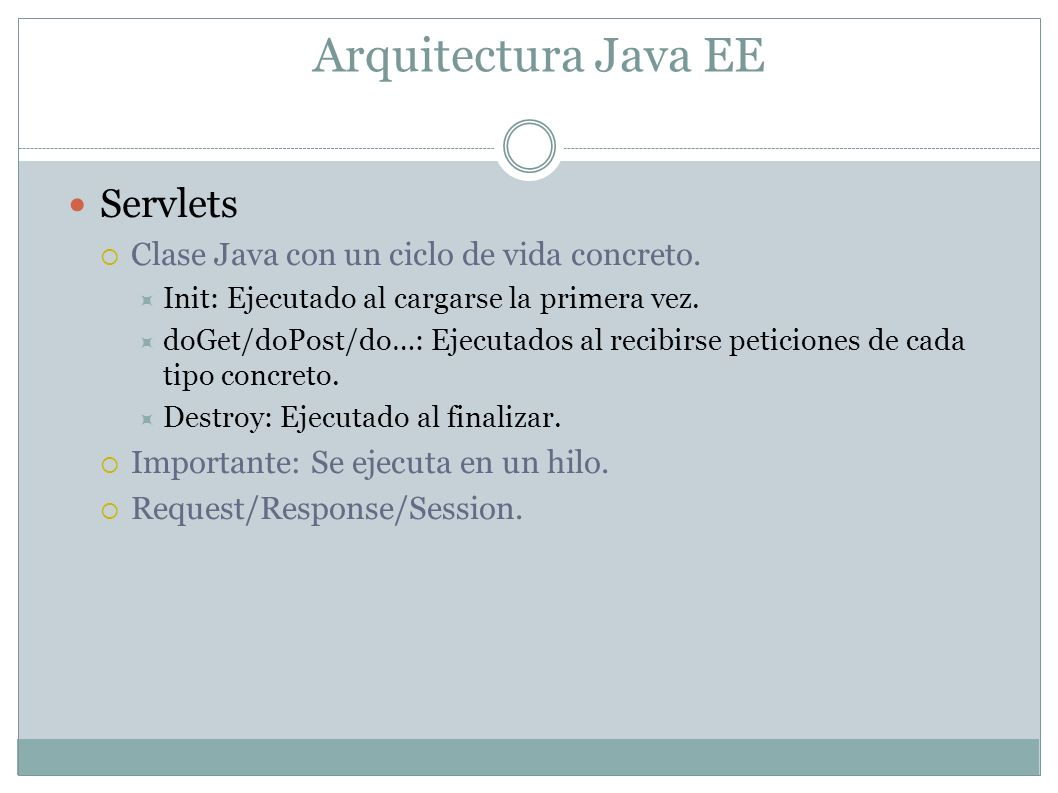 Arquitectura Java EE Servlets