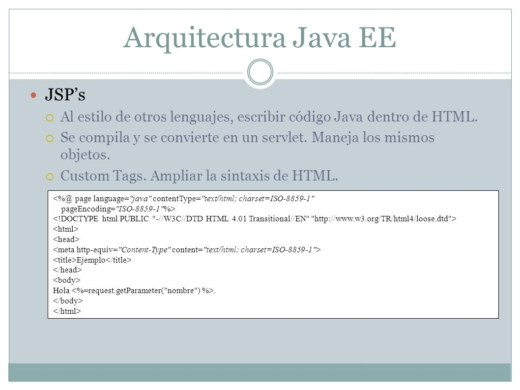 Arquitectura Java EE JSP's