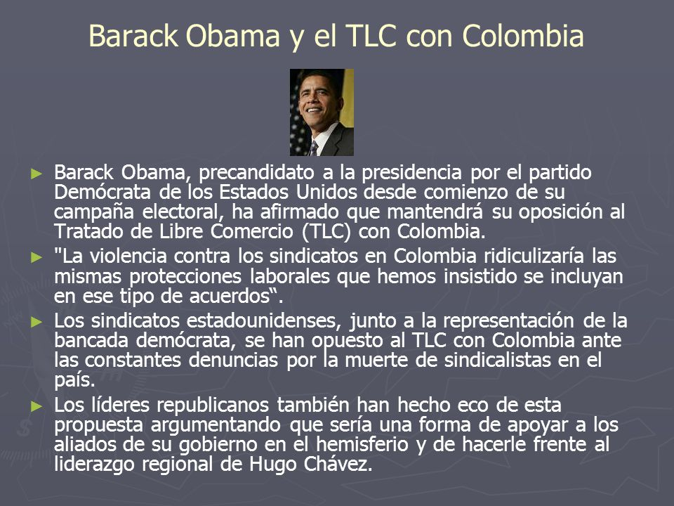 Barack Obama y el TLC con Colombia