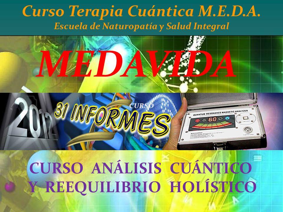 MEDAVIDA Curso Terapia Cuántica M.E.D.A. CURSO ANÁLISIS CUÁNTICO