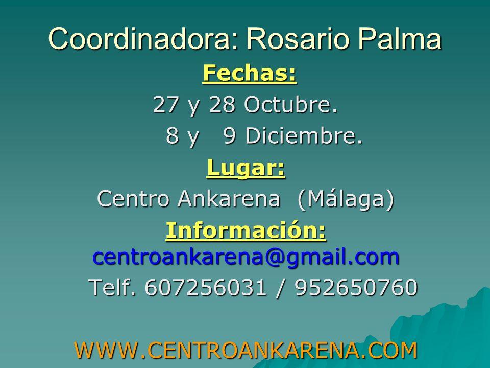 Coordinadora: Rosario Palma