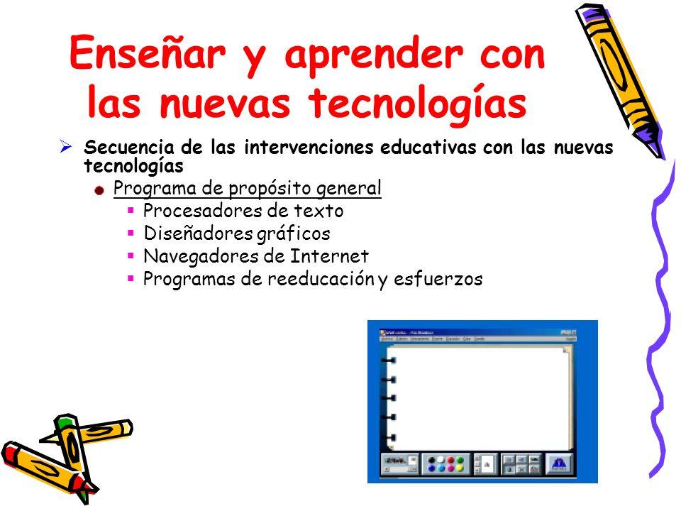 Enseñar y aprender con las nuevas tecnologías