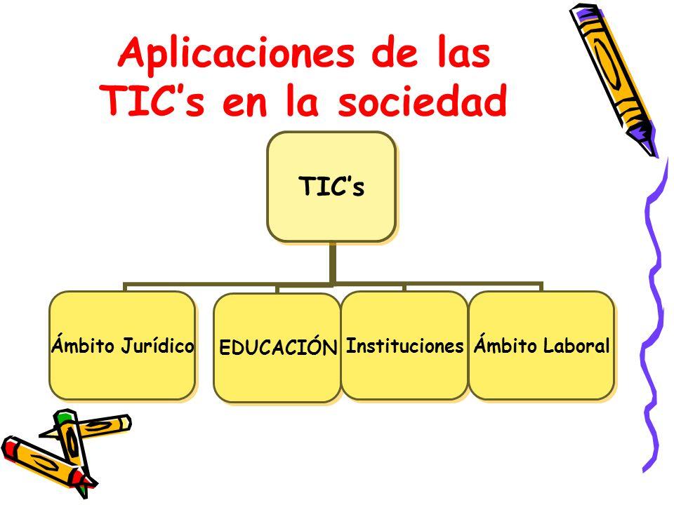 Aplicaciones de las TIC's en la sociedad
