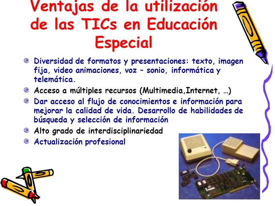 Ventajas de la utilización de las TICs en Educación Especial