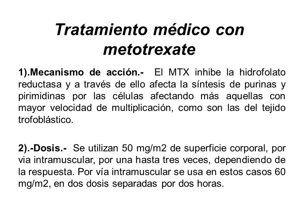 Tratamiento médico con metotrexate