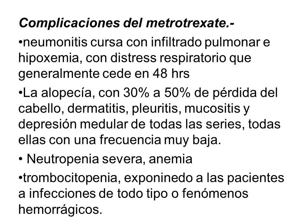 Complicaciones del metrotrexate.-