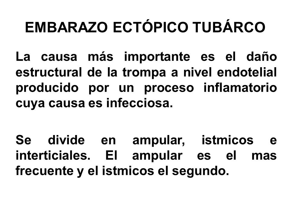EMBARAZO ECTÓPICO TUBÁRCO