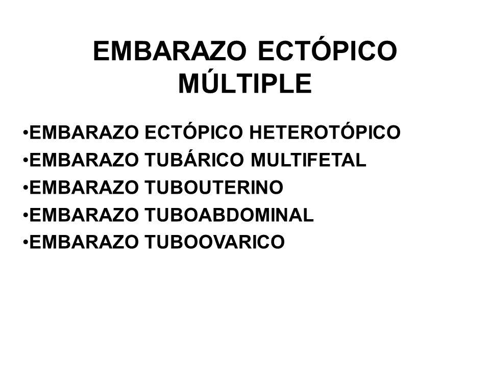 EMBARAZO ECTÓPICO MÚLTIPLE