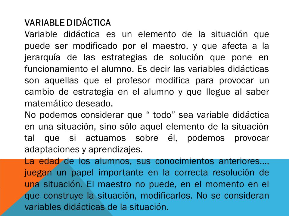 VARIABLE DIDÁCTICA