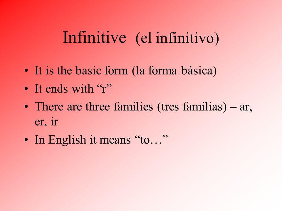 Infinitive (el infinitivo)