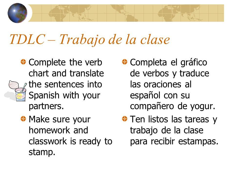 TDLC – Trabajo de la clase