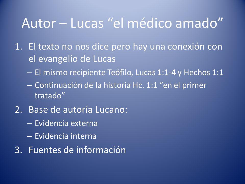 Autor – Lucas el médico amado