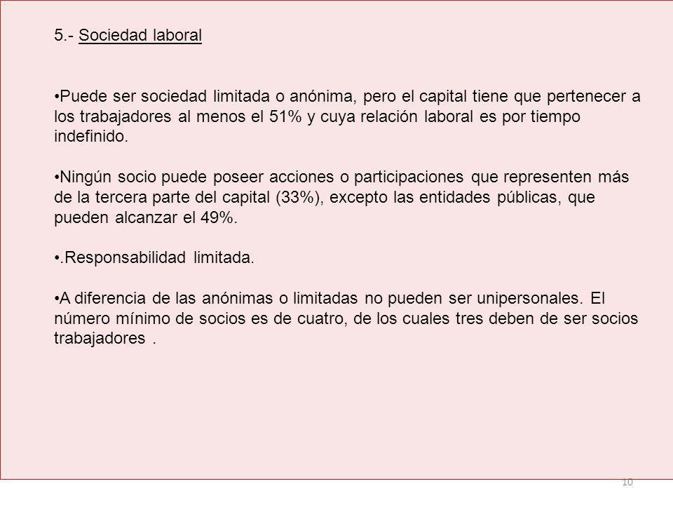5.- Sociedad laboral