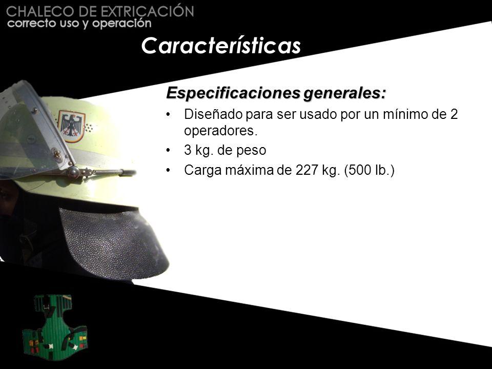 Características Especificaciones generales: