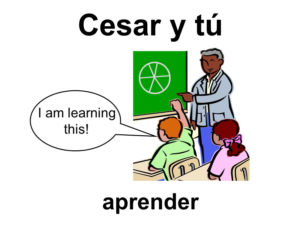 Cesar y tú I am learning this! aprender