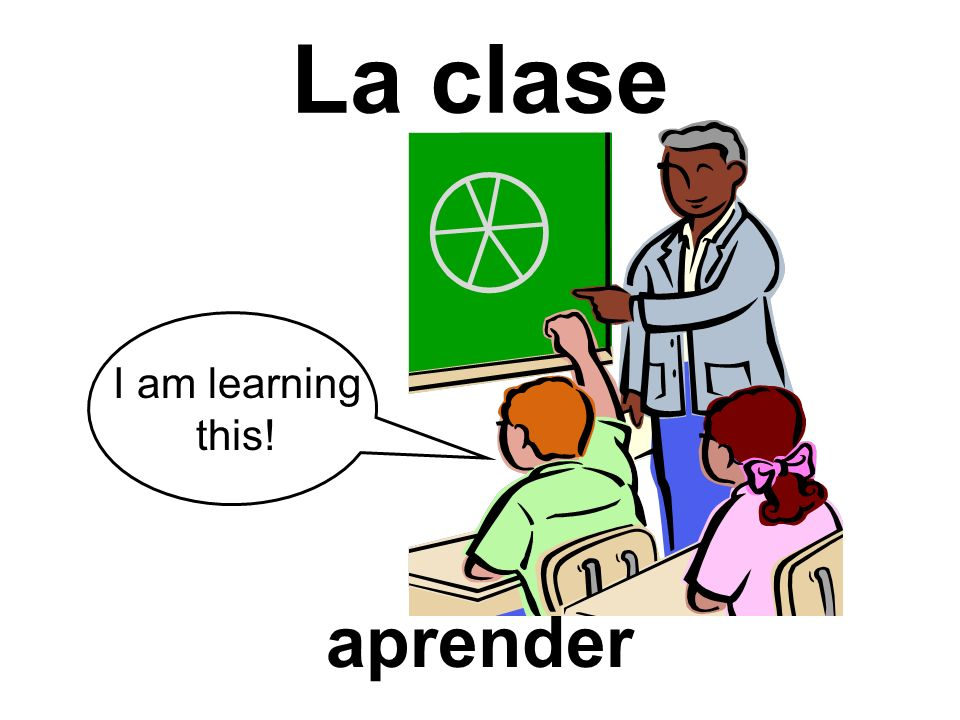 La clase I am learning this! aprender
