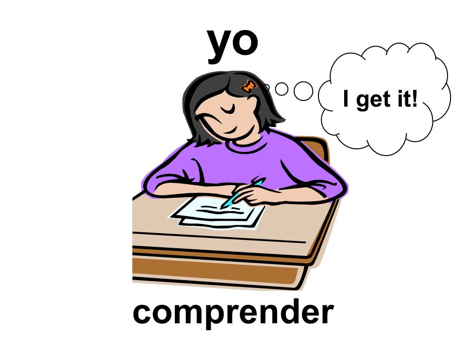 yo I get it! comprender