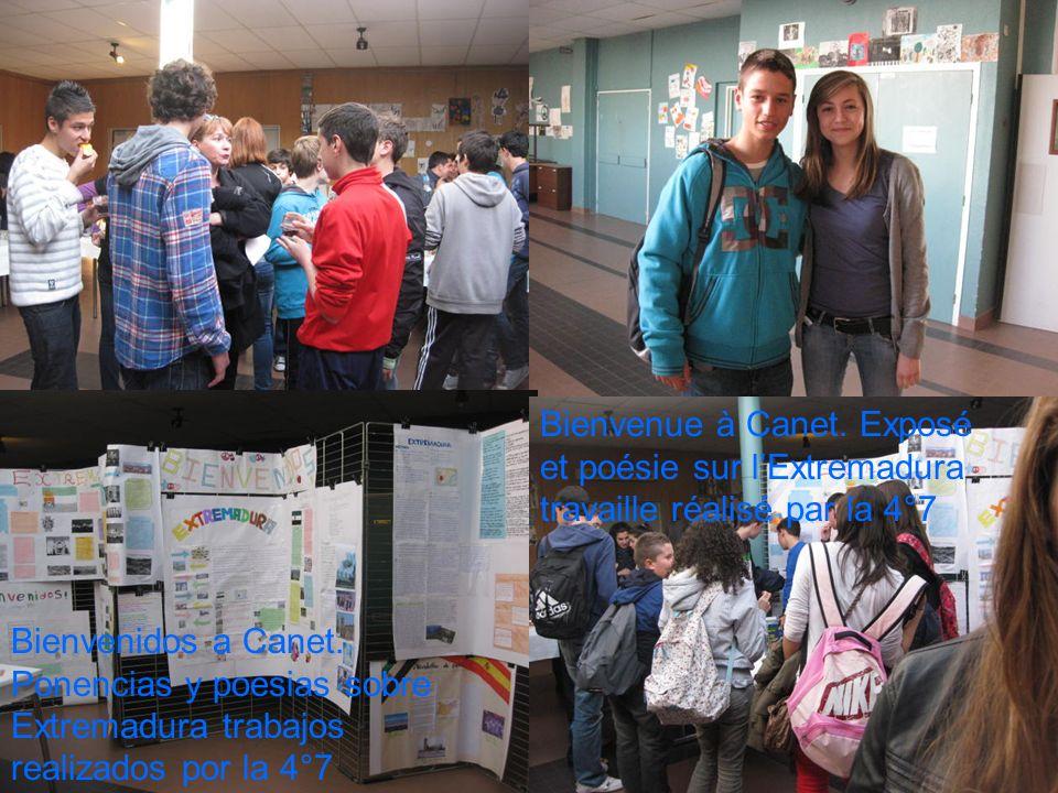 Bienvenue à Canet. Exposé et poésie sur l'Extremadura travaille réalisé par la 4°7