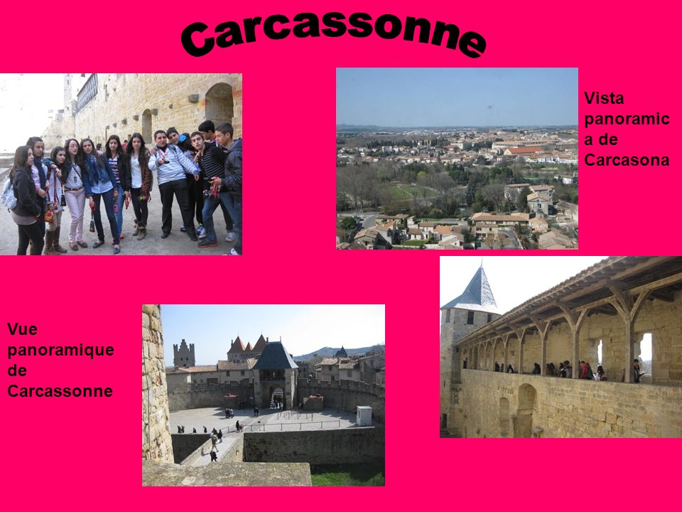 Carcassonne Vista panoramica de Carcasona