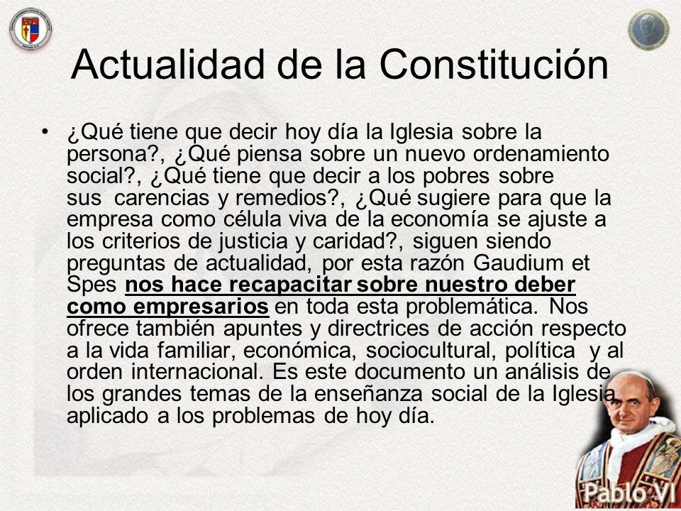 Actualidad de la Constitución