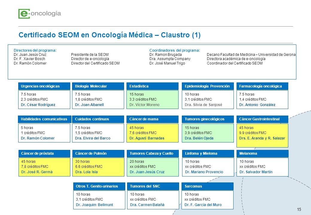 Certificado SEOM en Oncología Médica – Claustro (1)