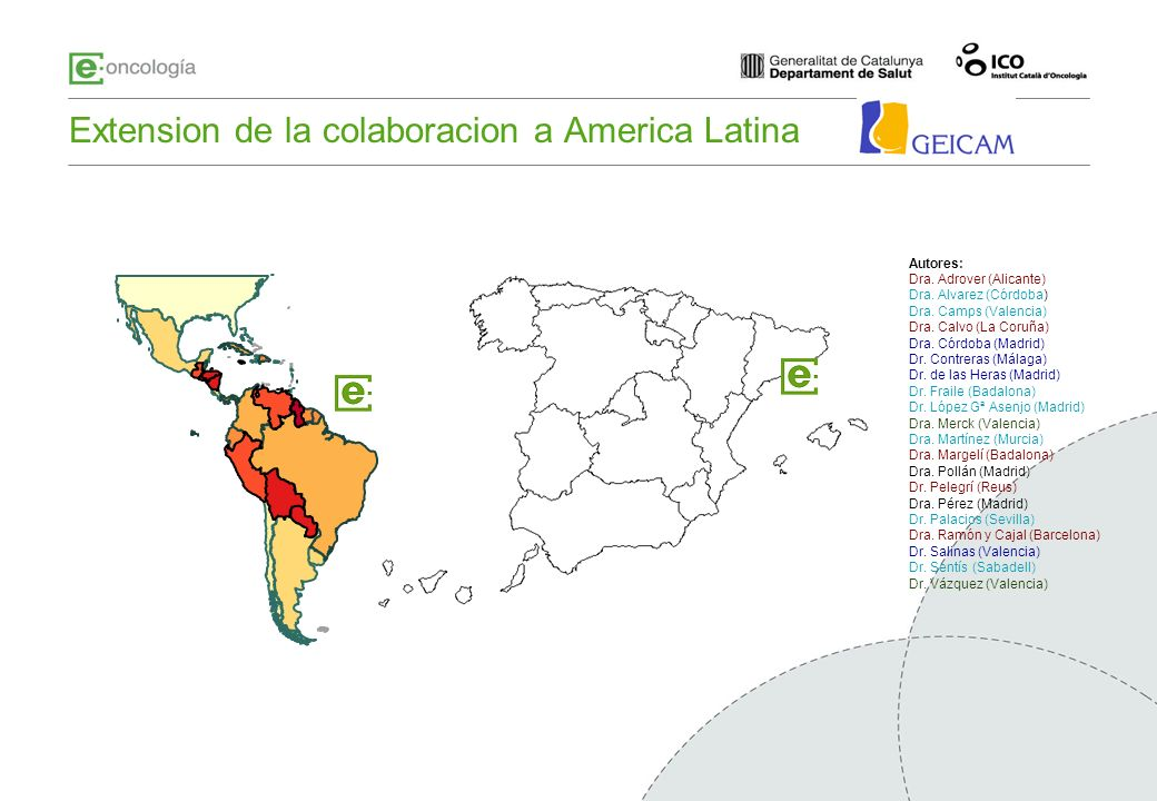 Extension de la colaboracion a America Latina