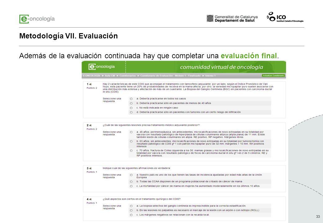 Metodología VII. Evaluación