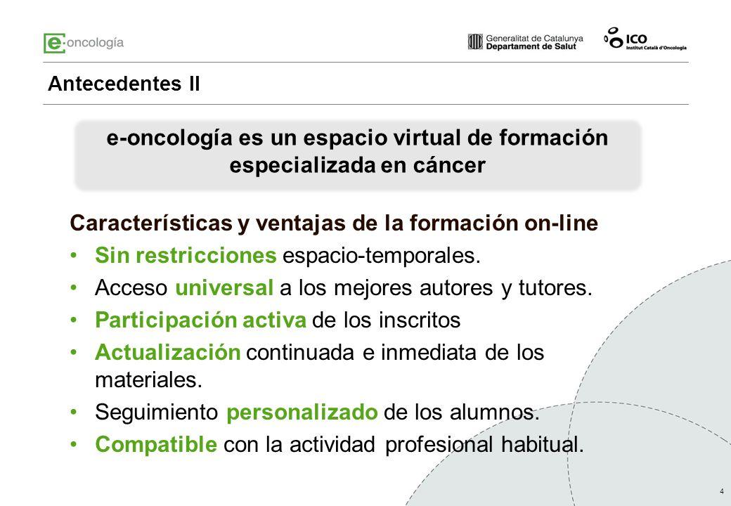e-oncología es un espacio virtual de formación especializada en cáncer