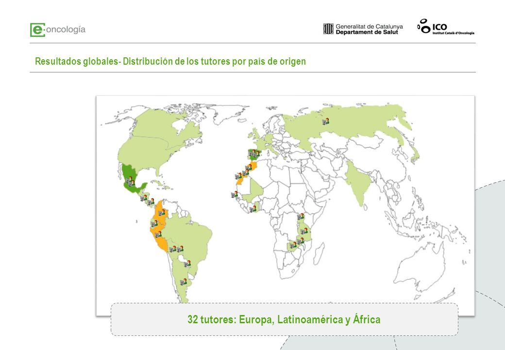 32 tutores: Europa, Latinoamérica y África