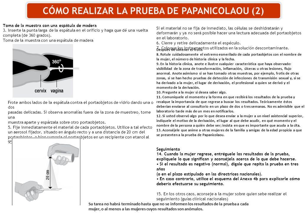 CÓMO REALIZAR LA PRUEBA DE PAPANICOLAOU (2)
