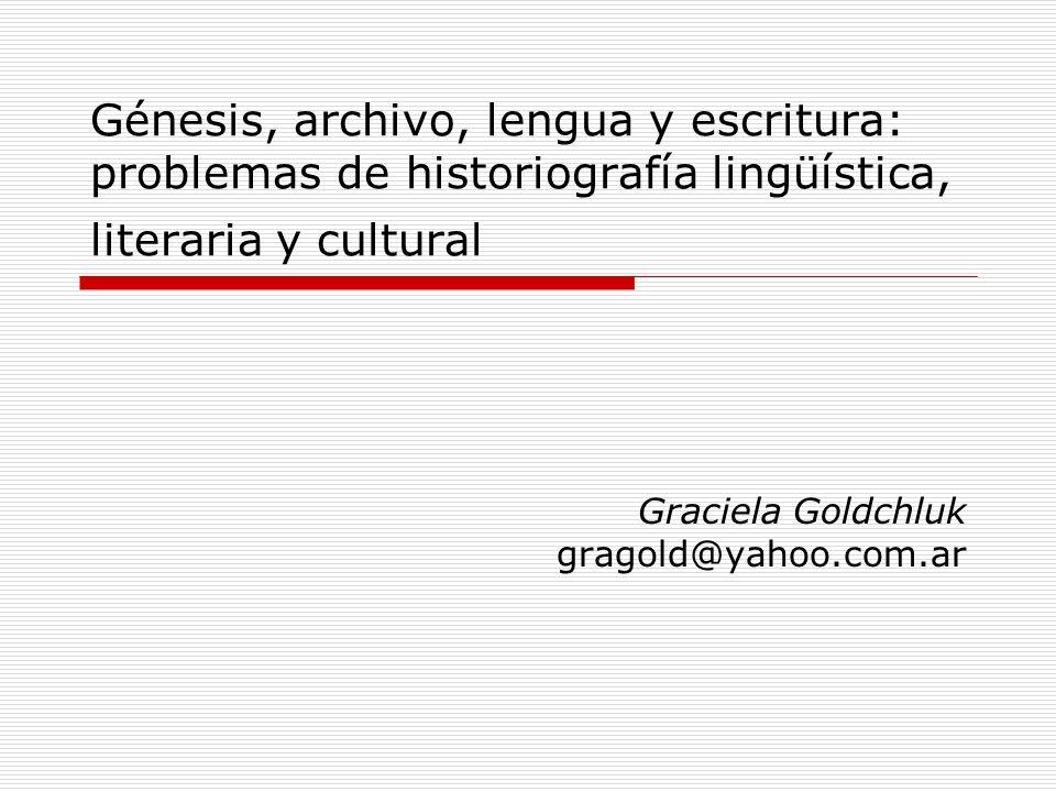 Graciela Goldchluk gragold@yahoo.com.ar