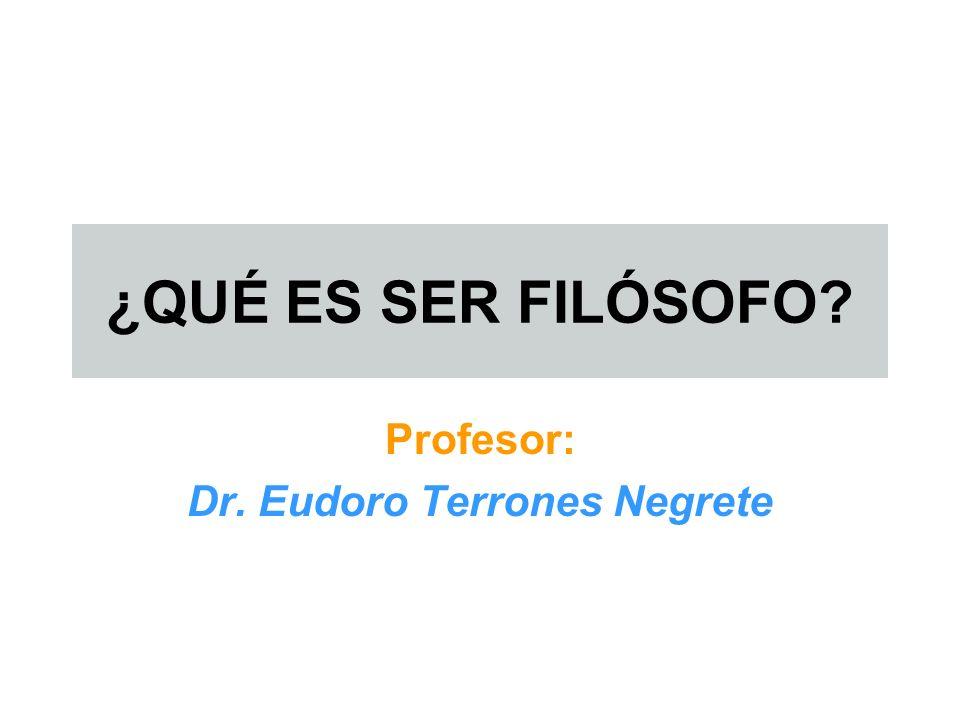 Profesor: Dr. Eudoro Terrones Negrete