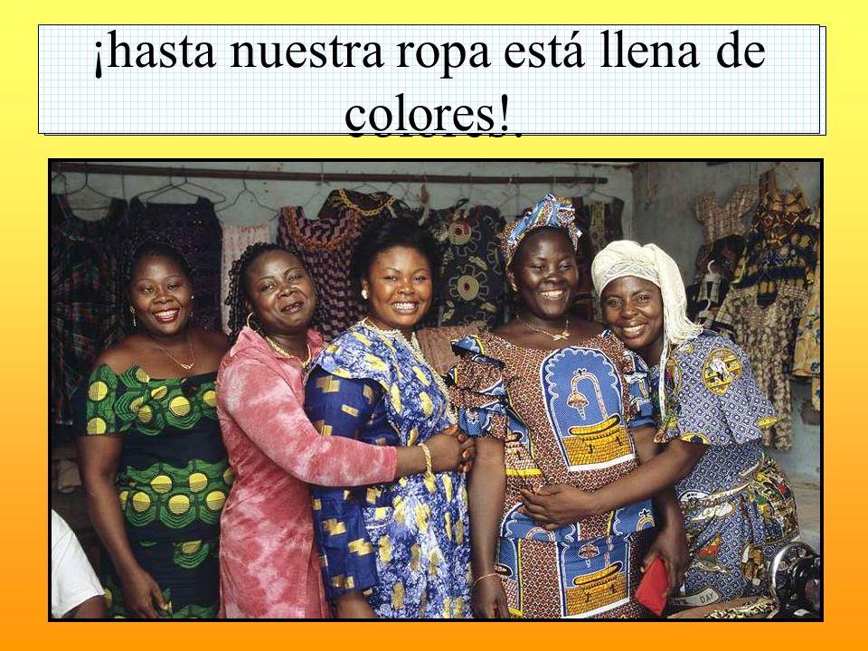 ¡hasta nuestra ropa está llena de colores!