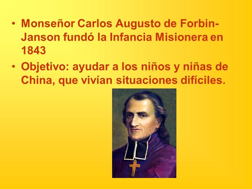 Monseñor Carlos Augusto de Forbin- Janson fundó la Infancia Misionera en 1843