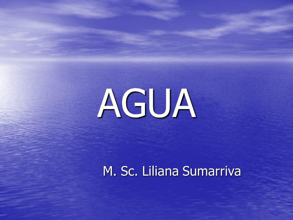 AGUA M. Sc. Liliana Sumarriva