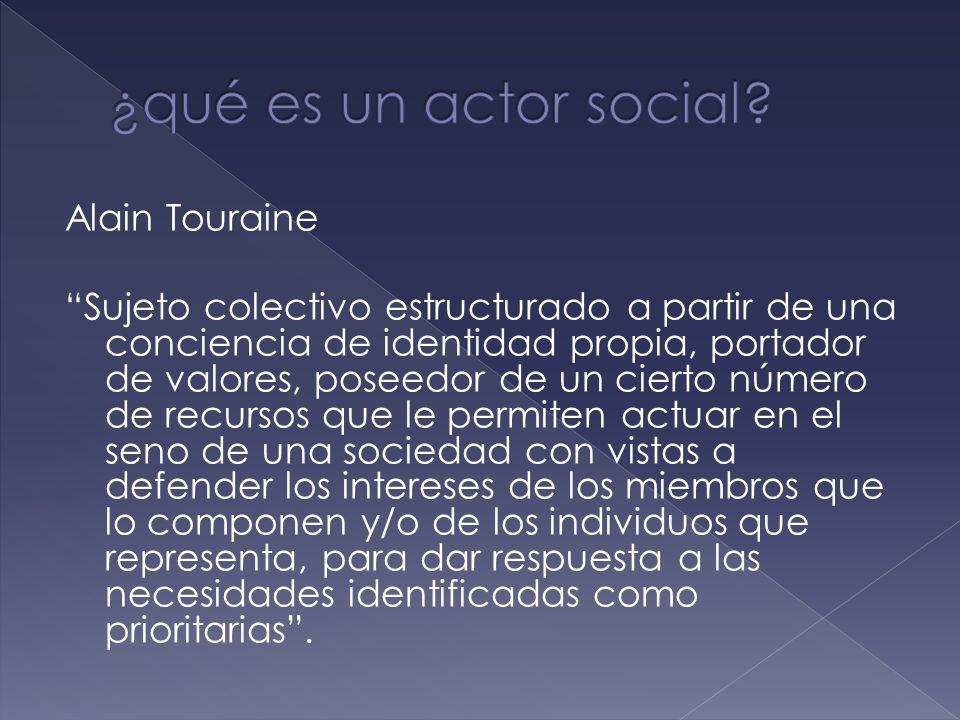 ¿qué es un actor social