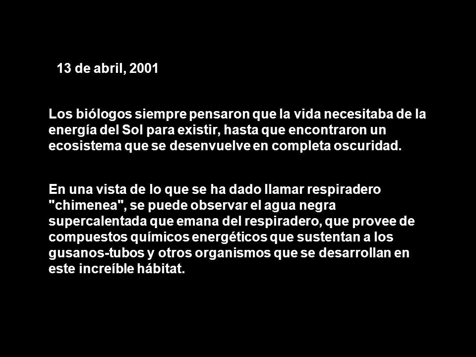 13 de abril, 2001
