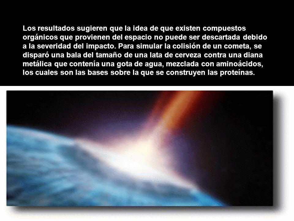 Los resultados sugieren que la idea de que existen compuestos orgánicos que provienen del espacio no puede ser descartada debido a la severidad del impacto.