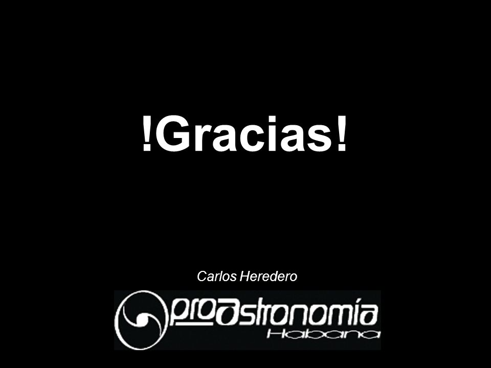!Gracias! Carlos Heredero