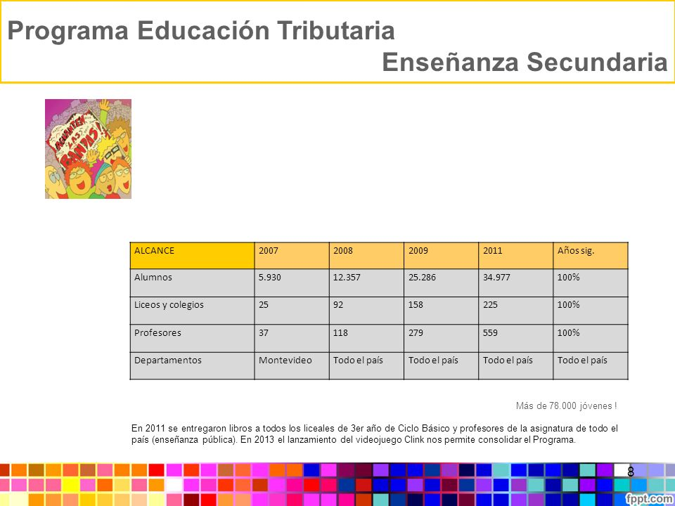 Programa Educación Tributaria Enseñanza Secundaria