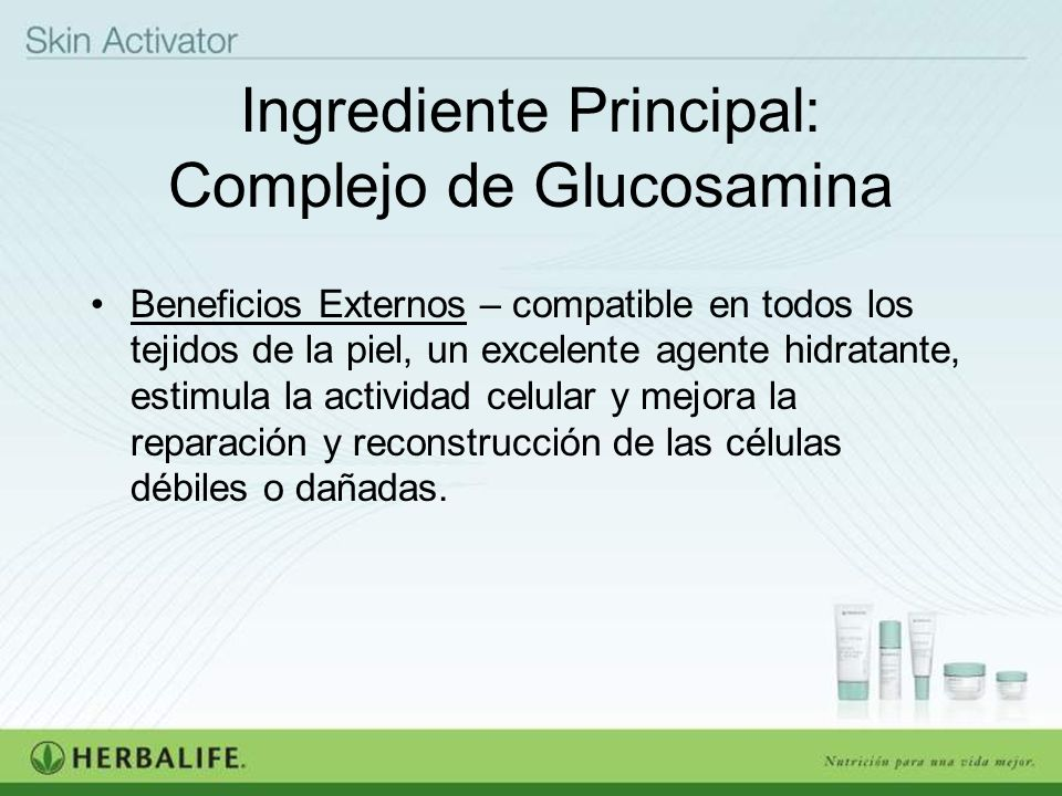 Ingrediente Principal: Complejo de Glucosamina