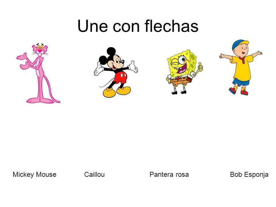 Une con flechas Mickey Mouse Caillou Pantera rosa Bob Esponja
