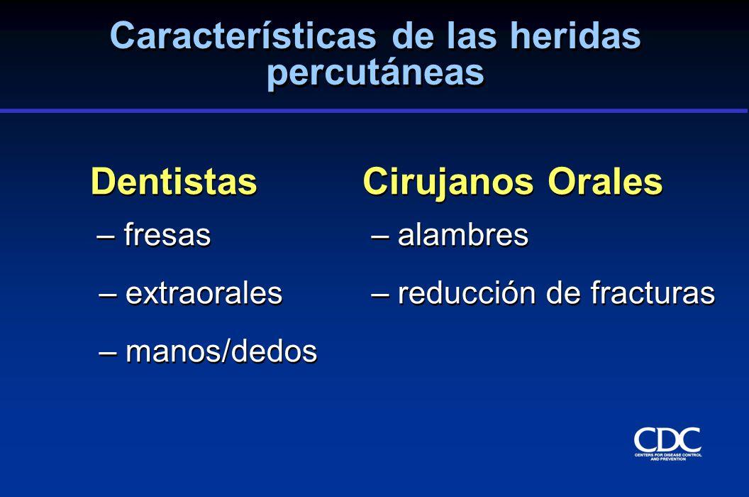 Características de las heridas percutáneas