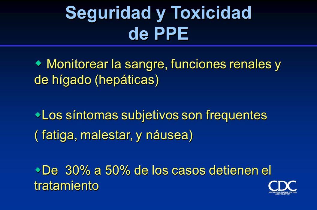 Seguridad y Toxicidad de PPE