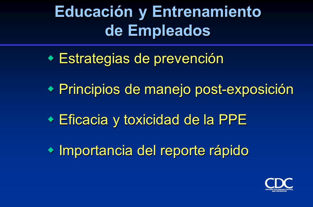 Educación y Entrenamiento de Empleados