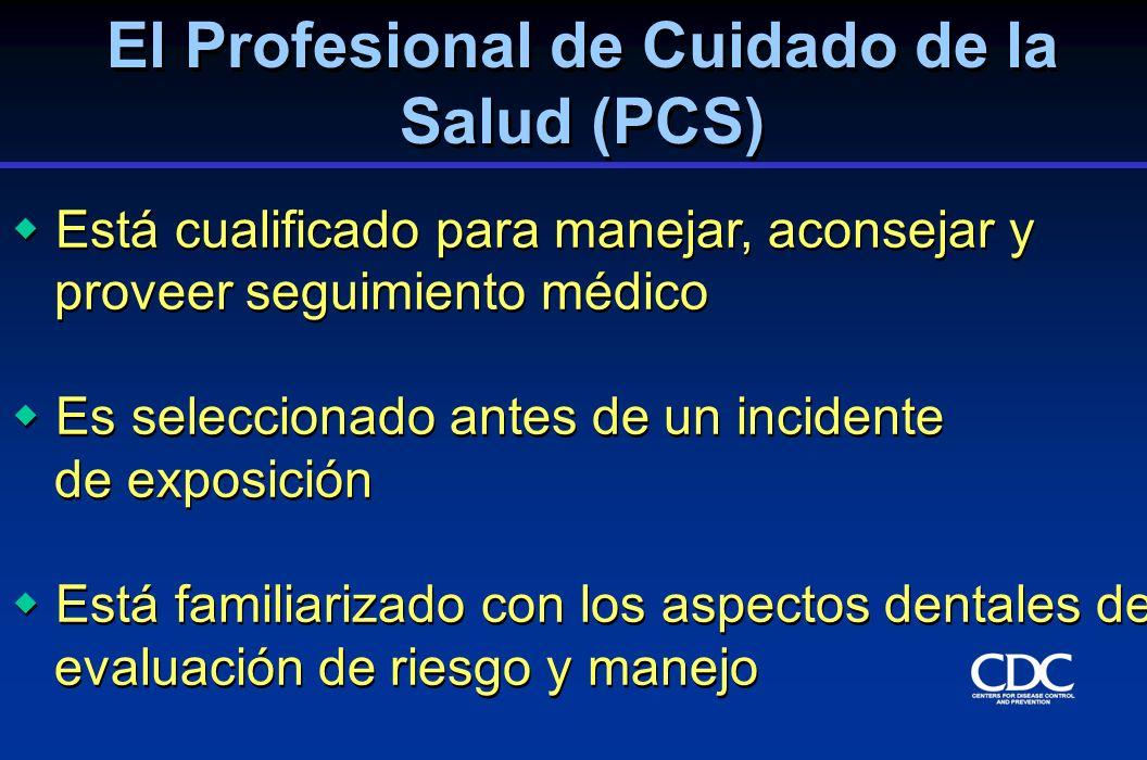 El Profesional de Cuidado de la Salud (PCS)
