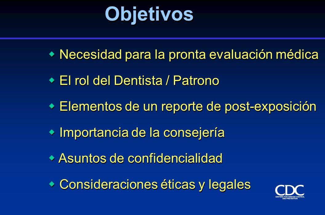 Objetivos Necesidad para la pronta evaluación médica